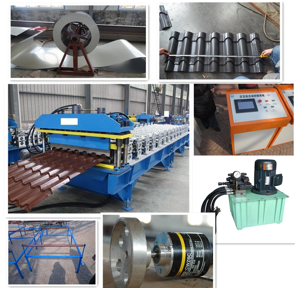 Automatic Glazed Tile Steel Roll Forming Machine