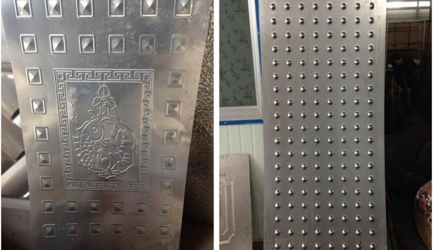 Metal door panel pattern pressing machine 1