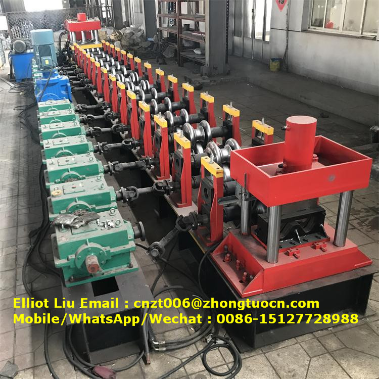 expressway crash barrier roll forming machine (2)