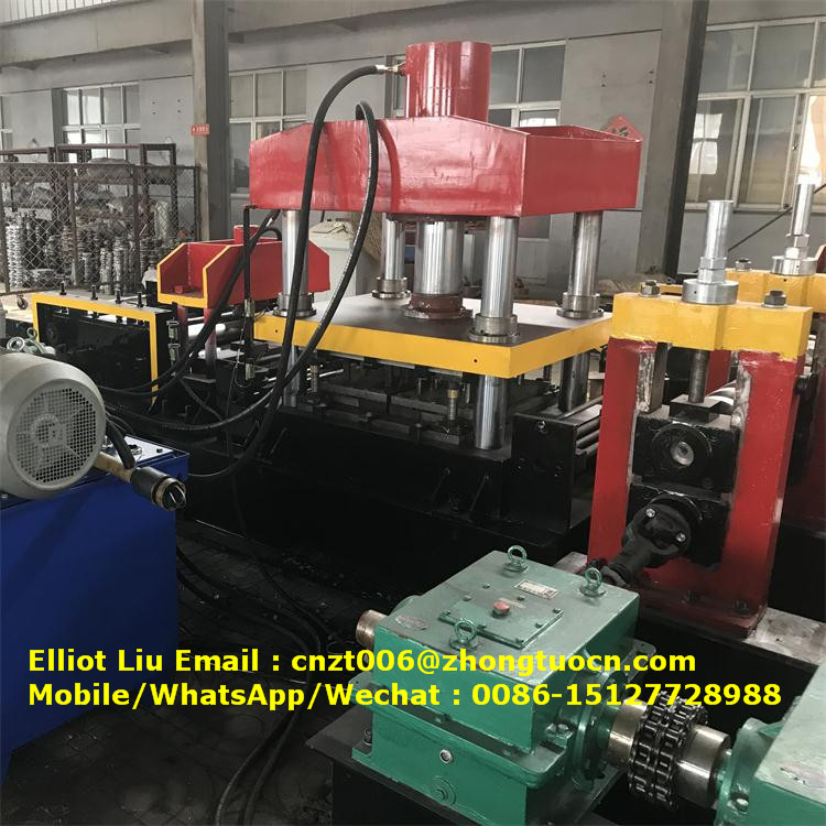 expressway crash barrier roll forming machine (8)