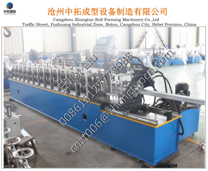 F47 Iran customer C channel roll forming machine (3)